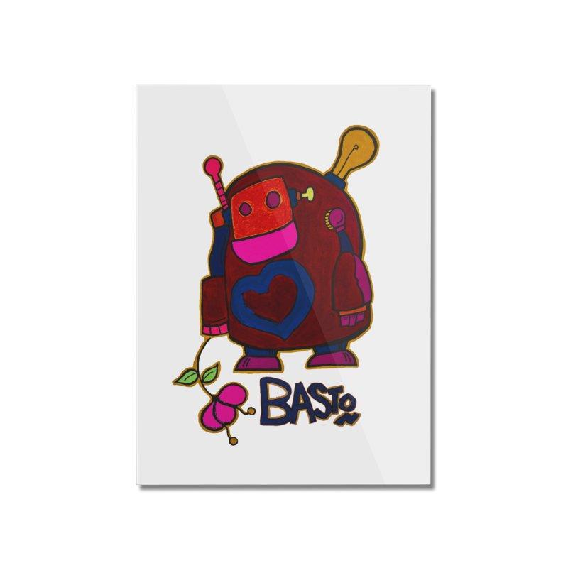 Robot Love 2 Home Mounted Acrylic Print by Baston's T-Shirt Emporium!