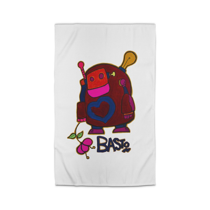 Robot Love 2 Home Rug by Baston's T-Shirt Emporium!