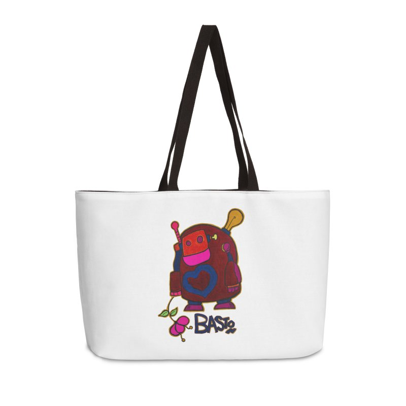 Robot Love 2 Accessories Weekender Bag Bag by Baston's T-Shirt Emporium!