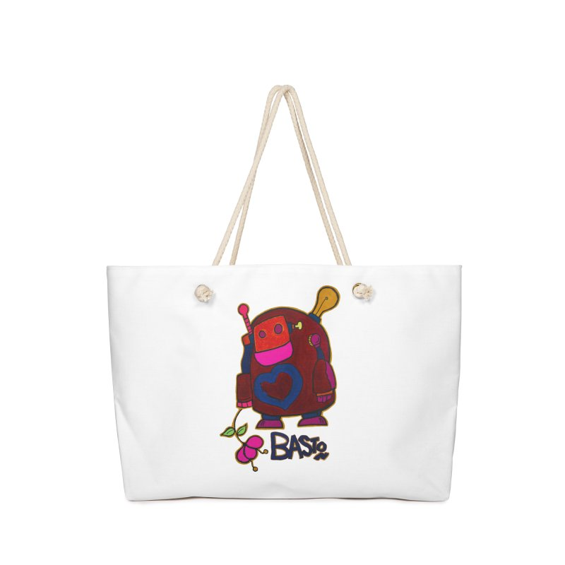 Robot Love 2 Accessories Bag by Baston's T-Shirt Emporium!