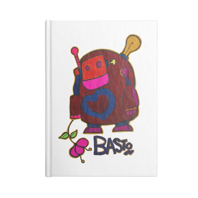 Robot Love 2 Accessories Lined Journal Notebook by Baston's T-Shirt Emporium!