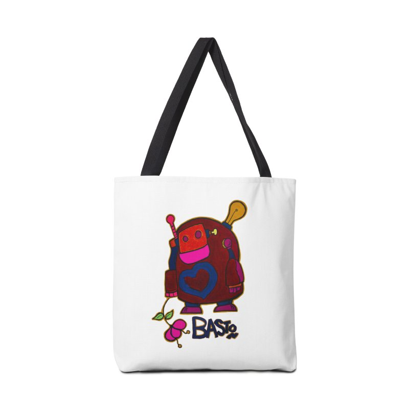 Robot Love 2 Accessories Tote Bag Bag by Baston's T-Shirt Emporium!