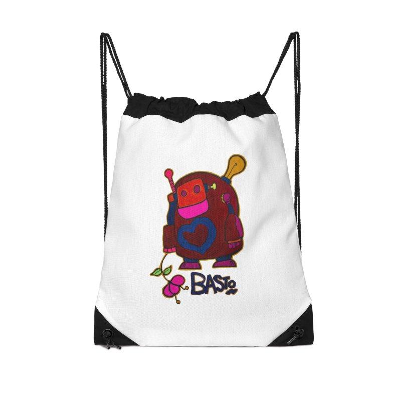 Robot Love 2 Accessories Drawstring Bag Bag by Baston's T-Shirt Emporium!