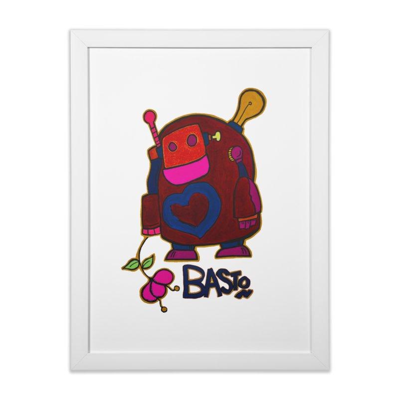 Robot Love 2 Home Framed Fine Art Print by Baston's T-Shirt Emporium!