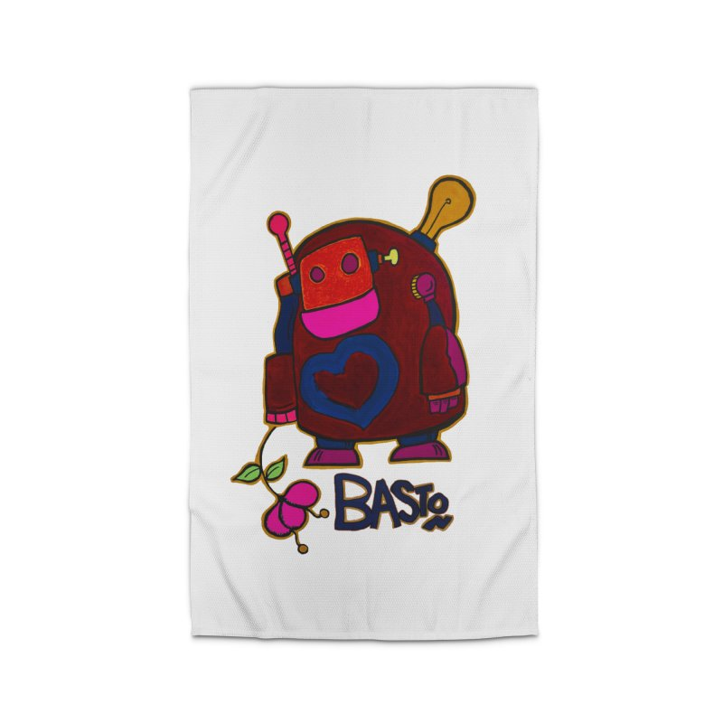 Robot Love 2 Home Rug by Baston's T-Shirt Emporium!
