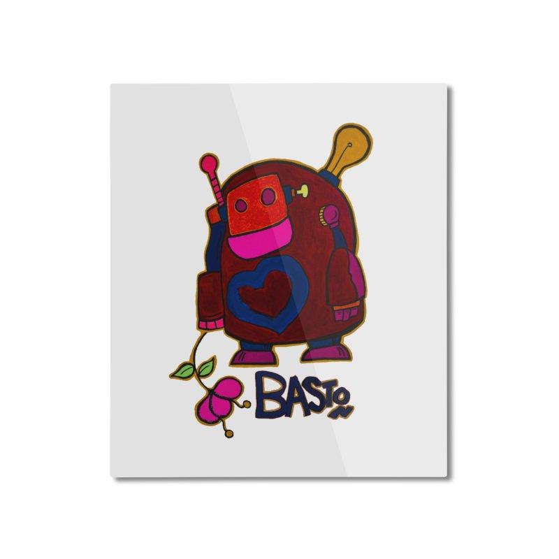 Robot Love 2 Home Mounted Aluminum Print by Baston's T-Shirt Emporium!