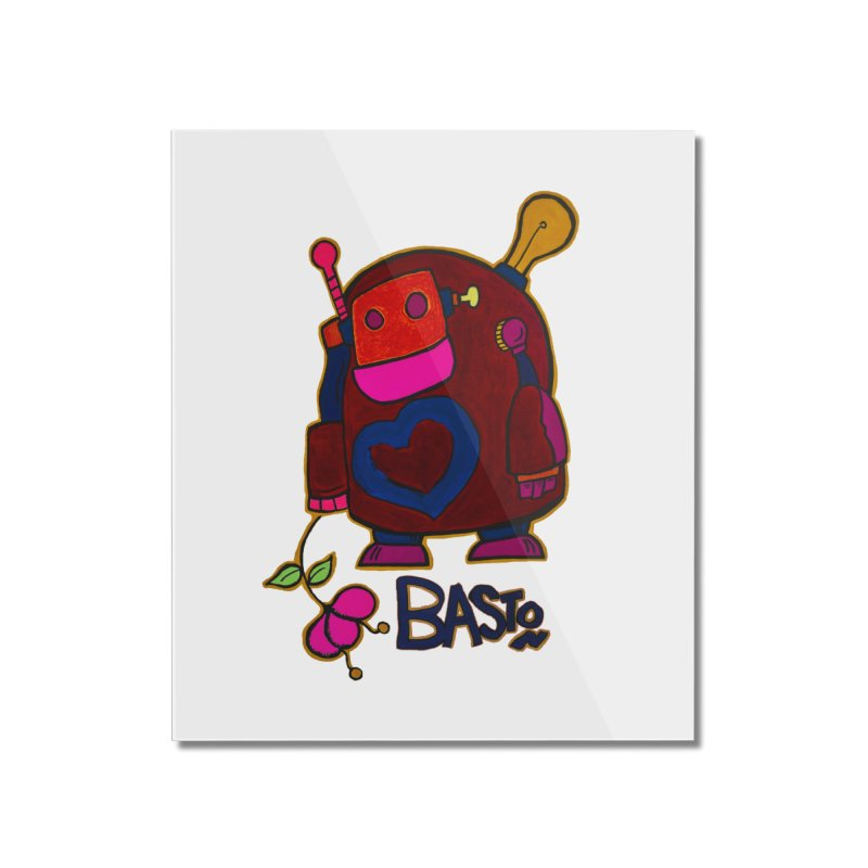 Robot Love 2 Home Mounted Acrylic Print by Baston's T-Shirt Emporium!