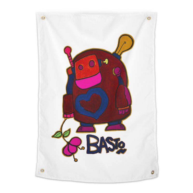 Robot Love 2 Home Tapestry by Baston's T-Shirt Emporium!