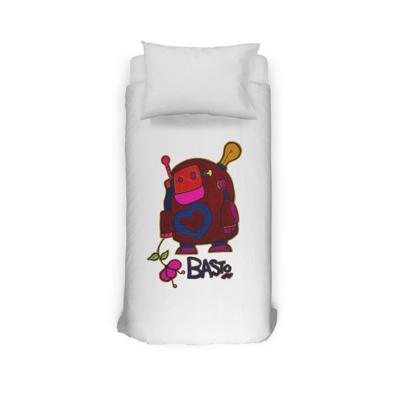 Robot Love 2 Home Duvet by Baston's T-Shirt Emporium!