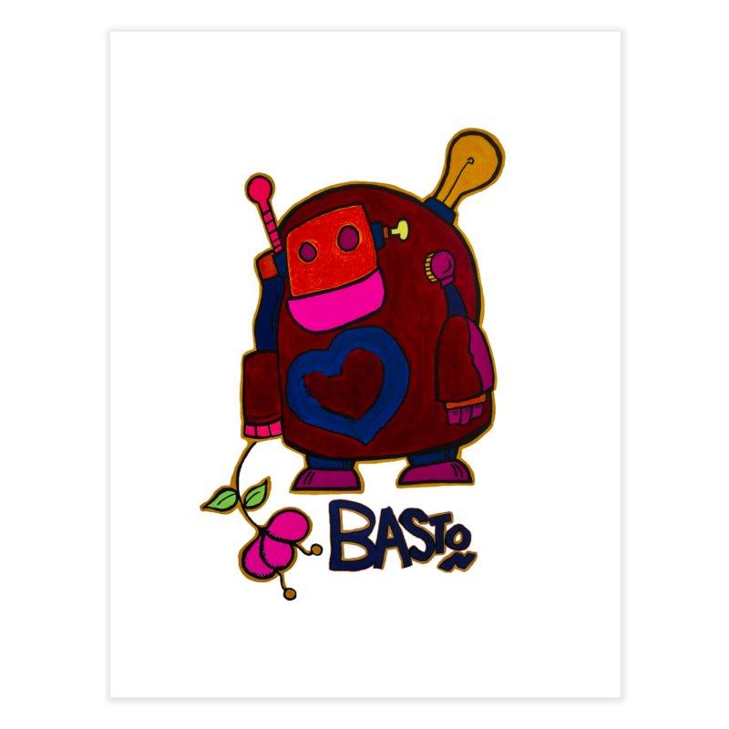 Robot Love 2 Home Fine Art Print by Baston's T-Shirt Emporium!
