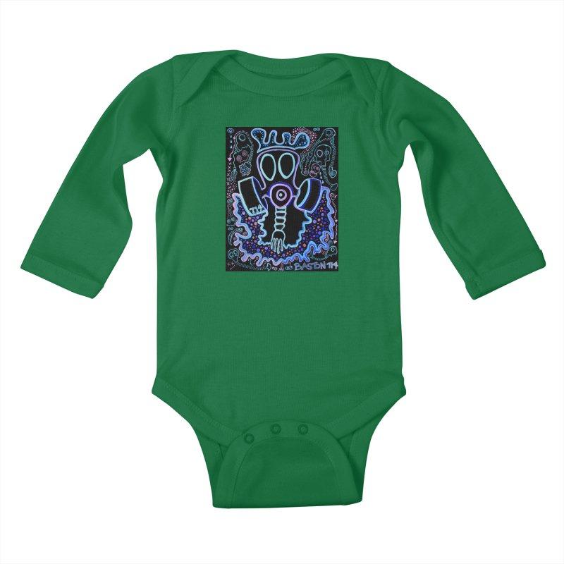 The Traveler Kids Baby Longsleeve Bodysuit by Baston's T-Shirt Emporium!