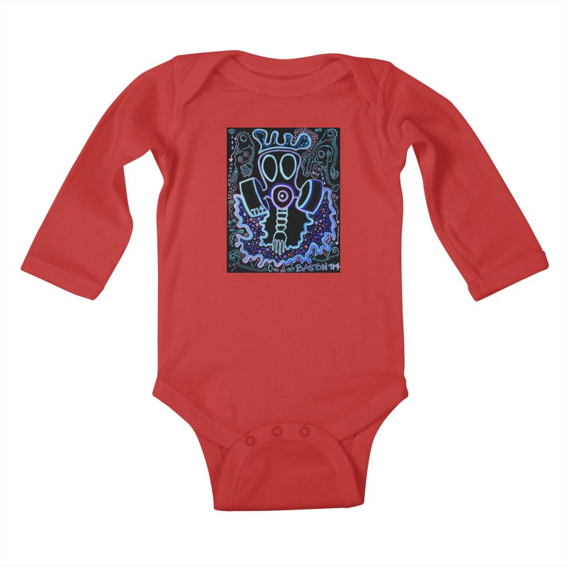 The Traveler Kids Baby Longsleeve Bodysuit by Baston's T-Shirt Emporium!