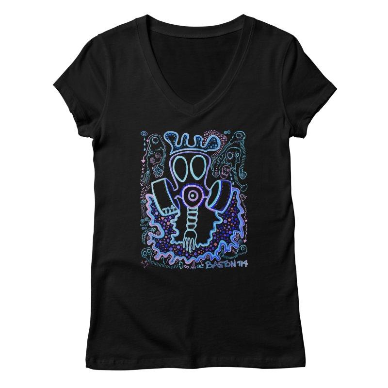 The Traveler Women's V-Neck by Baston's T-Shirt Emporium!