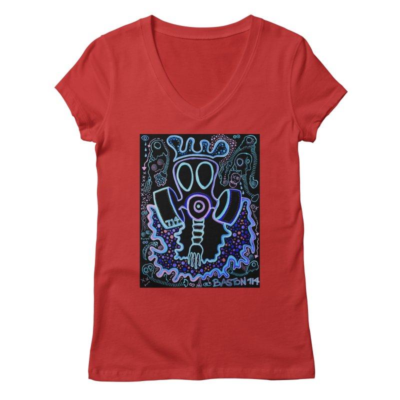 The Traveler Women's Regular V-Neck by Baston's T-Shirt Emporium!