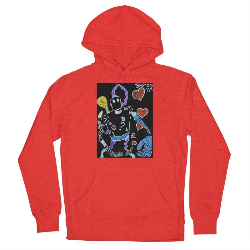 Robot Love Men's Pullover Hoody by Baston's T-Shirt Emporium!