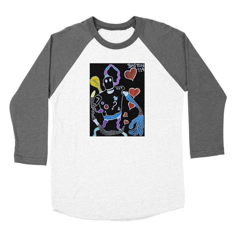 Robot Love Women's Longsleeve T-Shirt by Baston's T-Shirt Emporium!