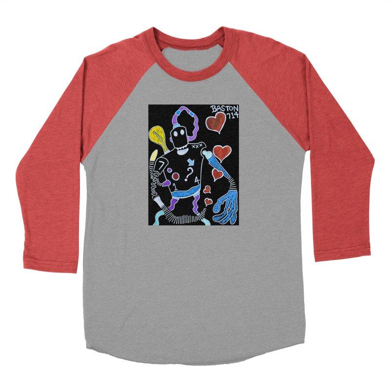 Robot Love Men's Longsleeve T-Shirt by Baston's T-Shirt Emporium!