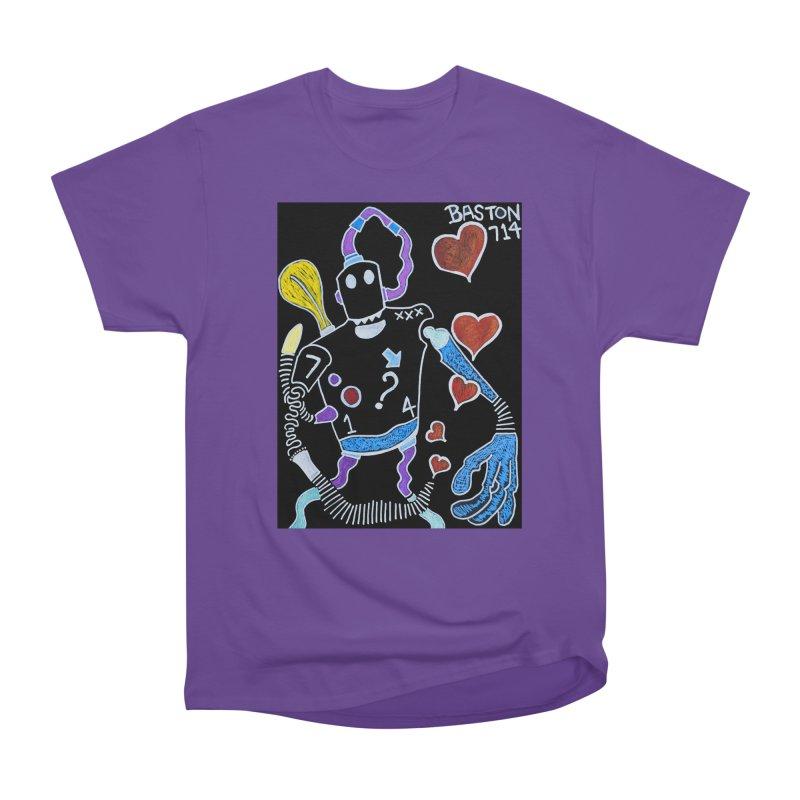 Robot Love Women's Heavyweight Unisex T-Shirt by Baston's T-Shirt Emporium!