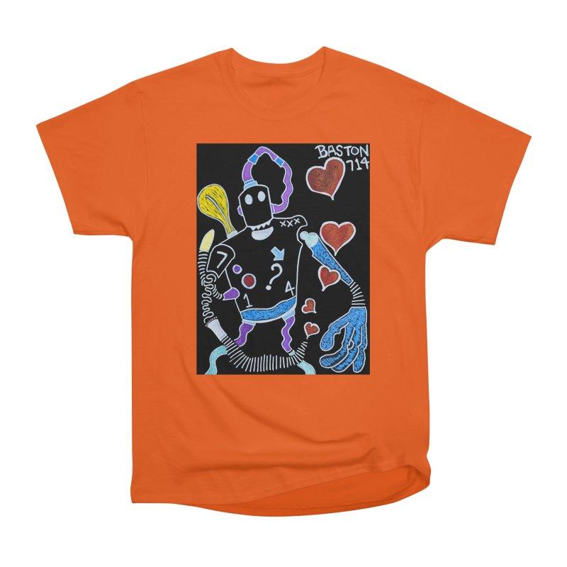 Robot Love Men's Heavyweight T-Shirt by Baston's T-Shirt Emporium!