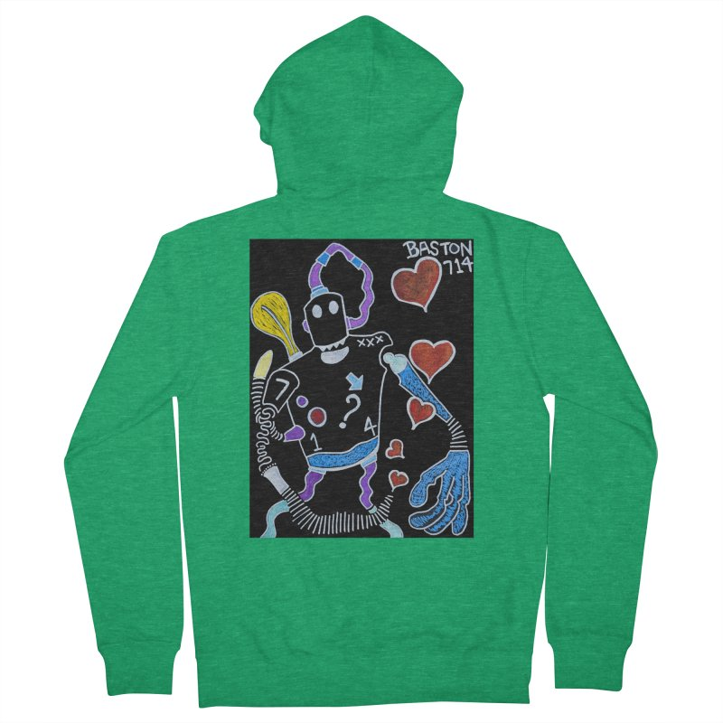 Robot Love Women's Zip-Up Hoody by Baston's T-Shirt Emporium!