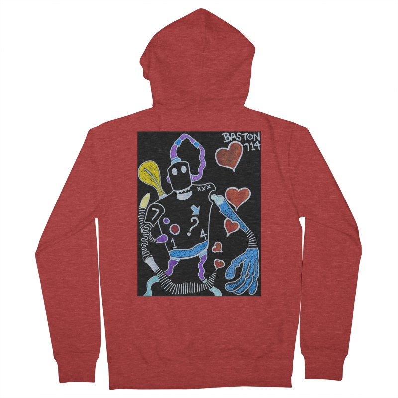 Robot Love Men's French Terry Zip-Up Hoody by Baston's T-Shirt Emporium!