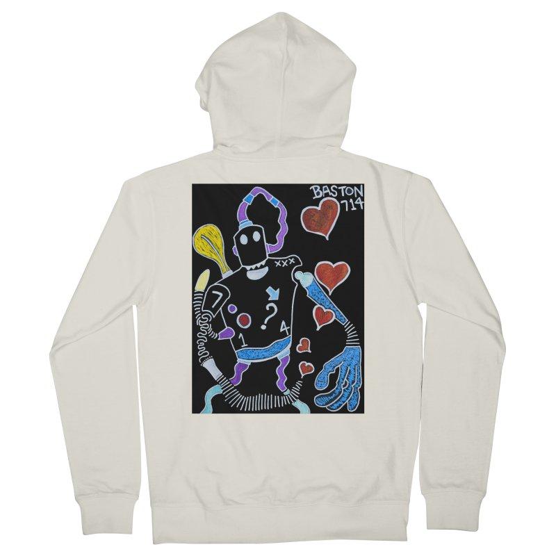 Robot Love Men's Zip-Up Hoody by Baston's T-Shirt Emporium!