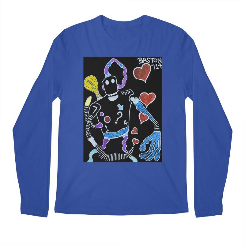 Robot Love Men's Regular Longsleeve T-Shirt by Baston's T-Shirt Emporium!