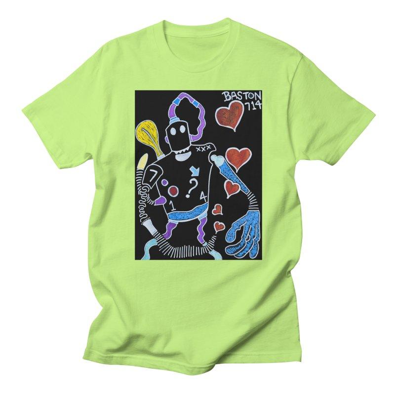 Robot Love Men's Regular T-Shirt by Baston's T-Shirt Emporium!