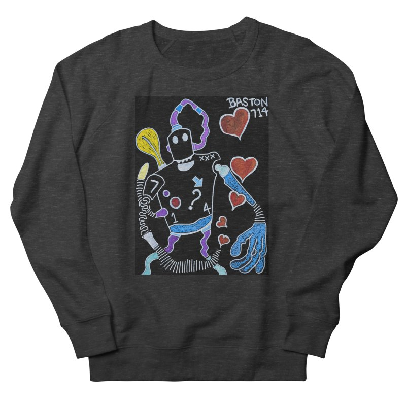 Robot Love Women's French Terry Sweatshirt by Baston's T-Shirt Emporium!