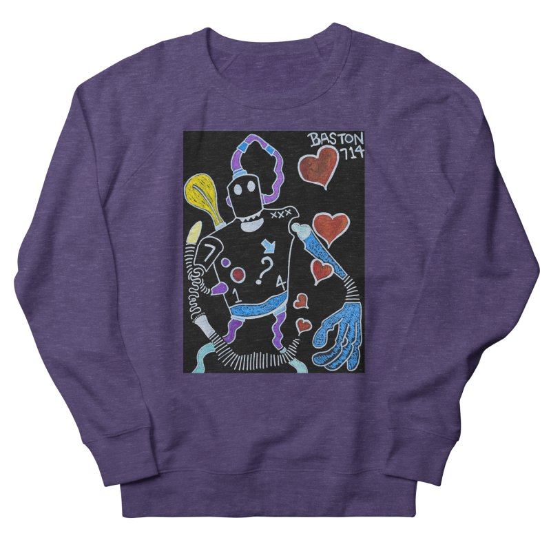 Robot Love Men's Sweatshirt by Baston's T-Shirt Emporium!