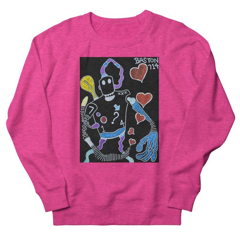 Robot Love Men's French Terry Sweatshirt by Baston's T-Shirt Emporium!