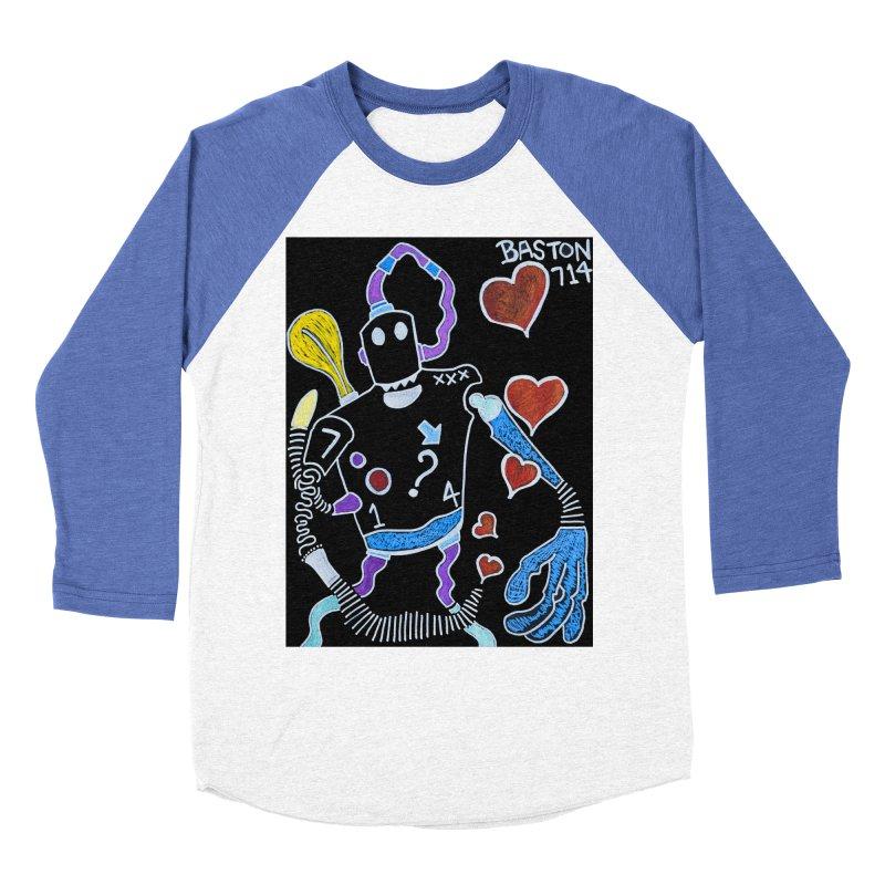 Robot Love Women's Baseball Triblend Longsleeve T-Shirt by Baston's T-Shirt Emporium!