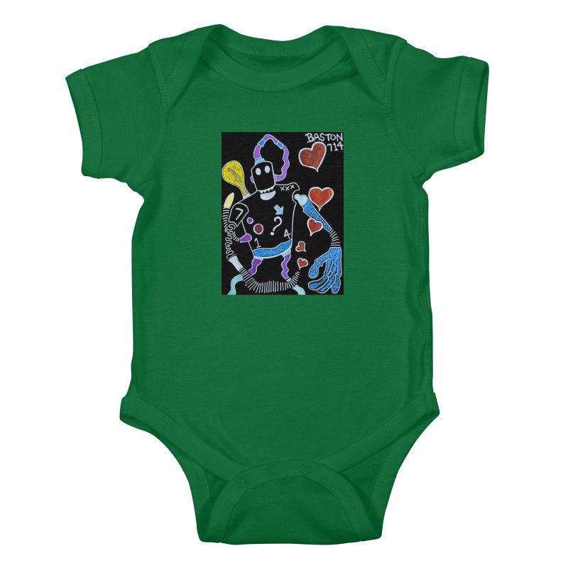 Robot Love Kids Baby Bodysuit by Baston's T-Shirt Emporium!