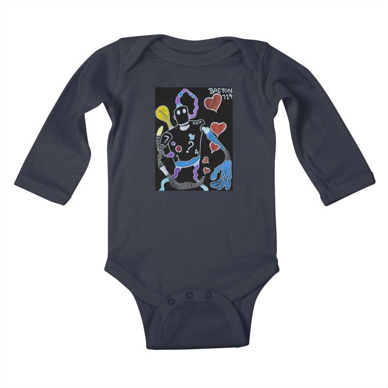 Robot Love Kids Baby Longsleeve Bodysuit by Baston's T-Shirt Emporium!