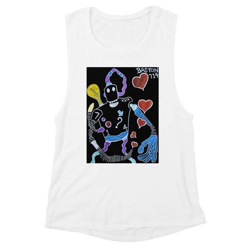 Robot Love Women's Muscle Tank by Baston's T-Shirt Emporium!