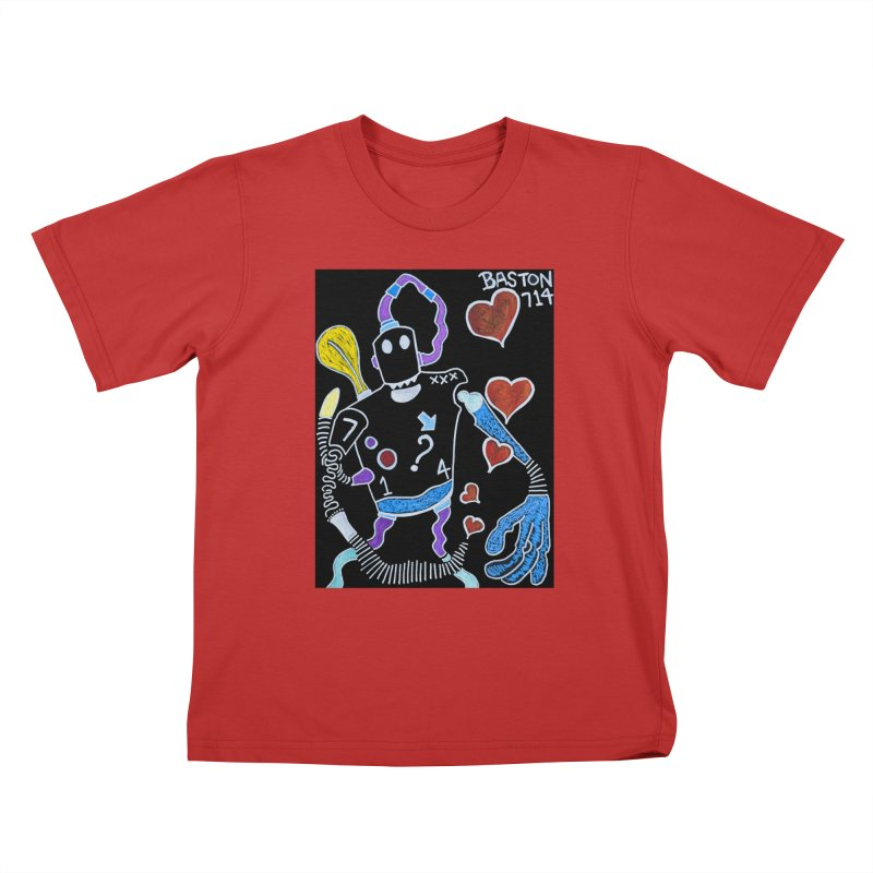 Robot Love Kids T-Shirt by Baston's T-Shirt Emporium!