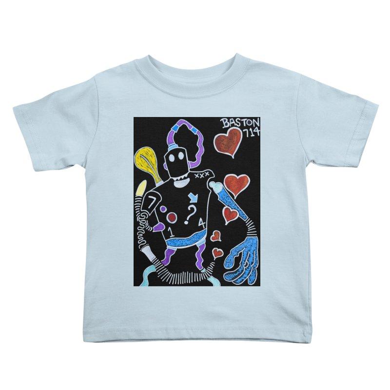 Robot Love Kids Toddler T-Shirt by Baston's T-Shirt Emporium!