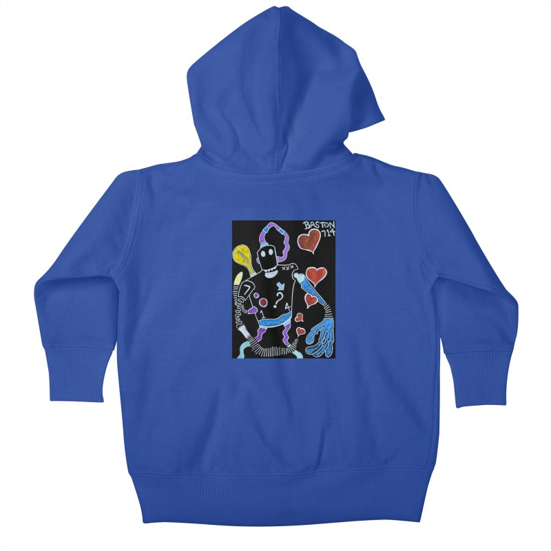 Robot Love Kids Baby Zip-Up Hoody by Baston's T-Shirt Emporium!