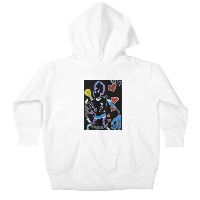 Robot Love Kids Baby Zip-Up Hoody by Baston's T-Shirt Emporium!