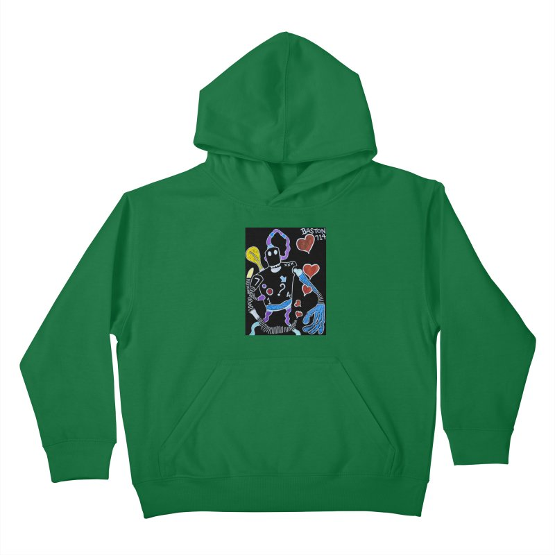 Robot Love Kids Pullover Hoody by Baston's T-Shirt Emporium!