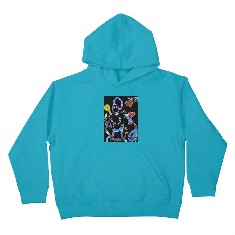 Robot Love Kids Pullover Hoody by Baston's T-Shirt Emporium!