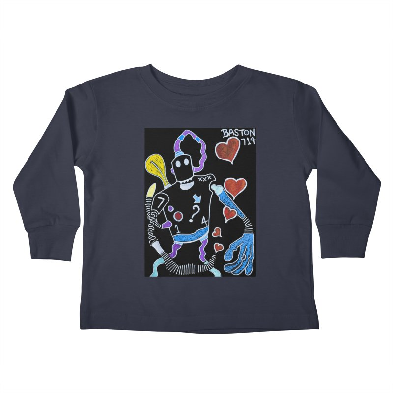 Robot Love Kids Toddler Longsleeve T-Shirt by Baston's T-Shirt Emporium!
