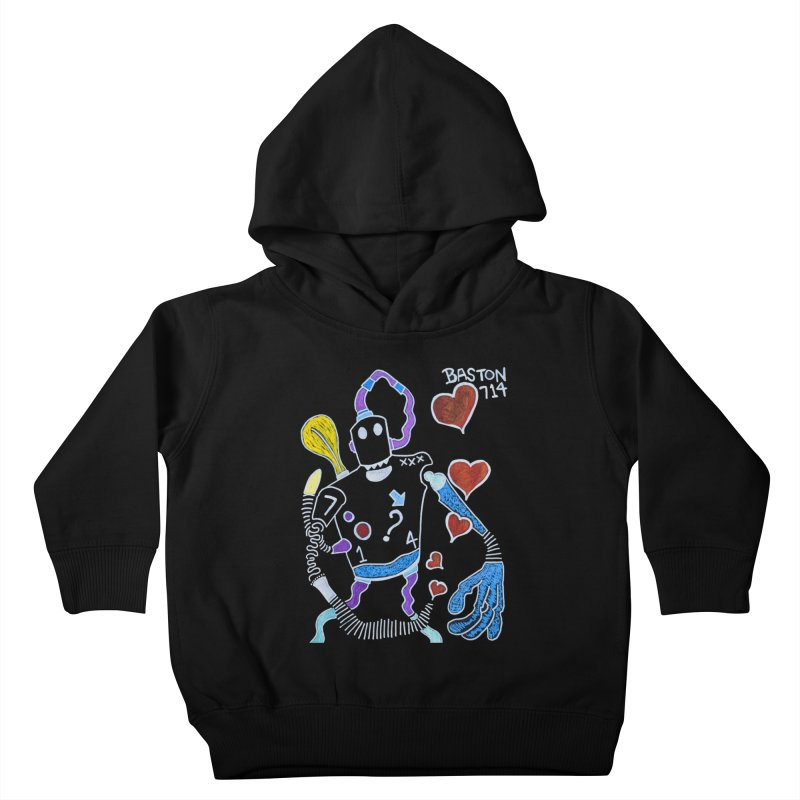 Robot Love Kids Toddler Pullover Hoody by Baston's T-Shirt Emporium!
