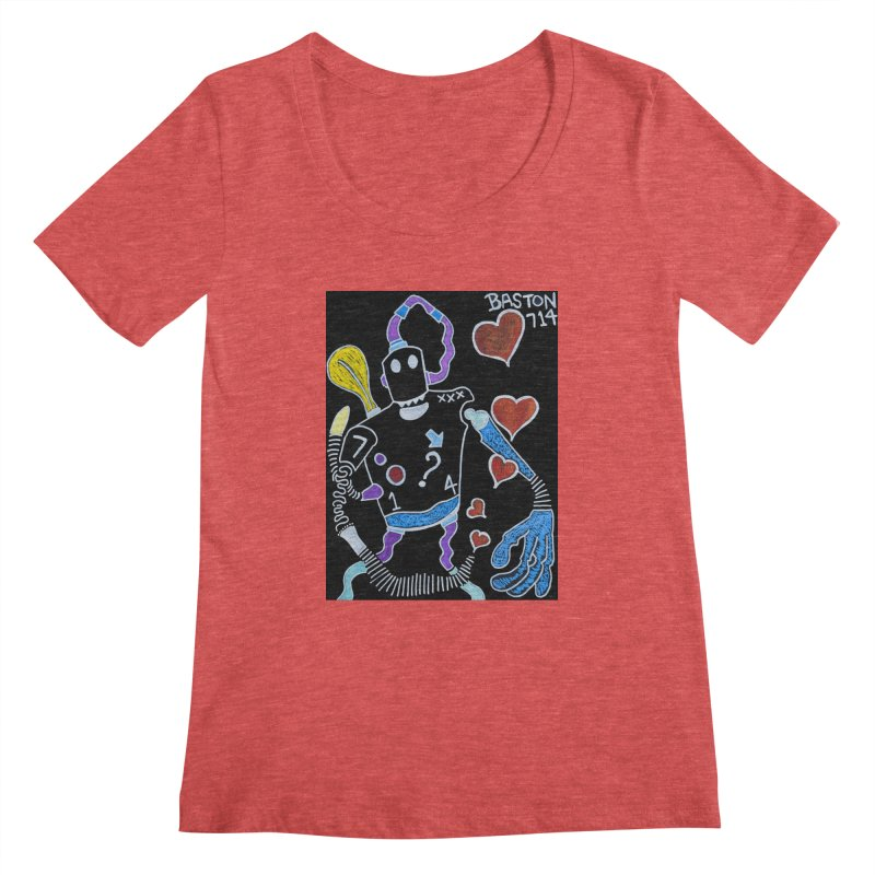 Robot Love Women's Scoopneck by Baston's T-Shirt Emporium!