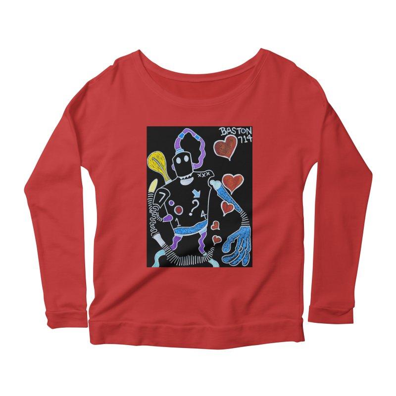Robot Love Women's Scoop Neck Longsleeve T-Shirt by Baston's T-Shirt Emporium!