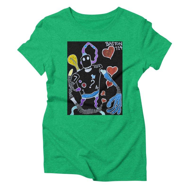 Robot Love Women's Triblend T-Shirt by Baston's T-Shirt Emporium!
