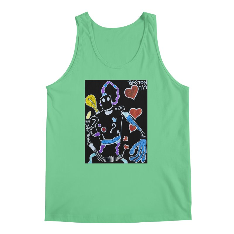 Robot Love Men's Tank by Baston's T-Shirt Emporium!