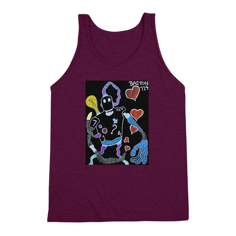 Robot Love Men's Triblend Tank by Baston's T-Shirt Emporium!