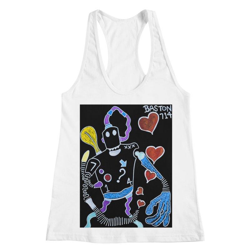 Robot Love Women's Racerback Tank by Baston's T-Shirt Emporium!