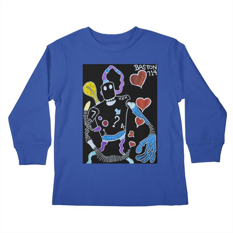 Robot Love Kids Longsleeve T-Shirt by Baston's T-Shirt Emporium!